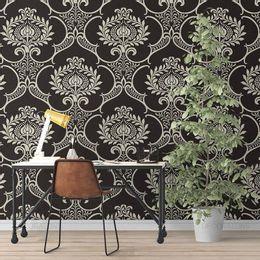 papel-de-parede-vintage-fundo-preto-desenhos-grande