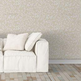 papel-de-parede-vintage-arabesco-fundo-bege
