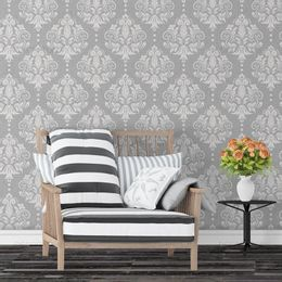 papel-de-parede-vintage-cinza-listrado