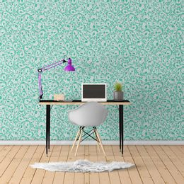 papel-de-parede-vintage-arabesco-verde-claro