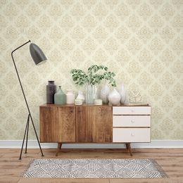 papel-de-parede-vintage-floral-champanhe