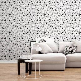 papel-de-parede-vintage-arabesco-ornamental-preto-e-branco