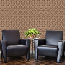 papel-de-parede-vintage-floral-marrom