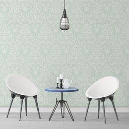papel-de-parede-vintage-verde-claro-com-branco