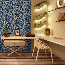 papel-de-parede-vintage-azul-cobalto-e-branco