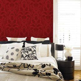 papel-de-parede-vintage-vermelho-escuro