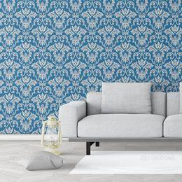 papel-de-parede-vintage-retro-azul-cobalto