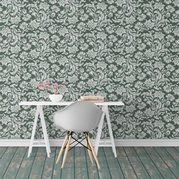 papel-de-parede-arabesco-vintage-verde-floresta