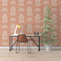 papel-de-parede-arabesco-vintage-coral