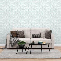 papel-de-parede-vintage-turquesa-claro