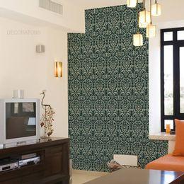 papel-de-parede-vintage-verde-floresta
