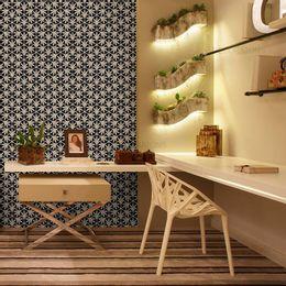 papel-de-parede-vintage-azul-marinho-desenhos-branco