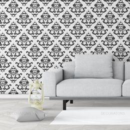 papel-de-parede-vintage-desenhos-preto-com-fundo-branco