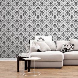 papel-de-parede-vintage-desenhos-cinza-fundo-branco