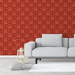 papel-de-parede-vintage-desenhos-vermelho