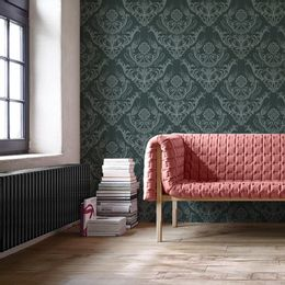 papel-de-parede-vintage-arabesco-verde-floresta