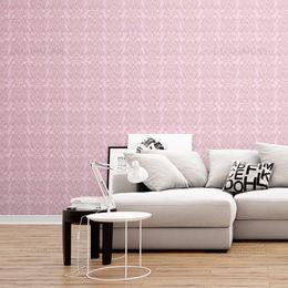 papel-de-parede-vintage-rosa-com-desenhos