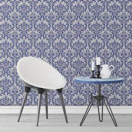 papel-de-parede-vintage-azul-marinho-desenhos-grande