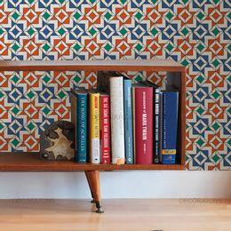 papel-de-parede-abstrato-geometrico-coral