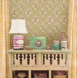 papel-de-parede-floral-listrado-vintage-bege1