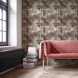 papel-de-parede-floral-marron-folhas-marron