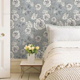 papel-de-parede-floral-vintage-cinza