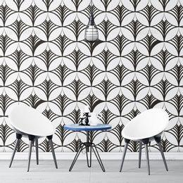 papel-de-parede-abstrato-ornamental-preto