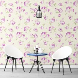 papel-de-parede-rosas-moderno-delicado-amarelo-claro