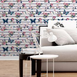 papel-de-parede-rosas-e-borboletas-listrado-lilas