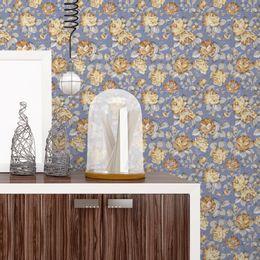 papel-de-parede-ramos-de-rosas-sepia-azul-cobalto
