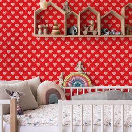 papel-de-parede-rabisco-de-coracao-vermelho