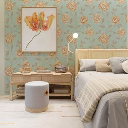 papel-de-parede-floral-arabesco-turquesa
