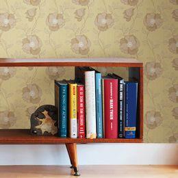 papel-de-parede-floral-vintage-tracejado-cor-palha-pri78