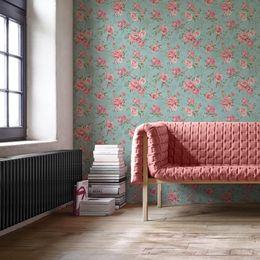papel-de-parede-floral-rosas-fundo-verde-acinzentado-pri112