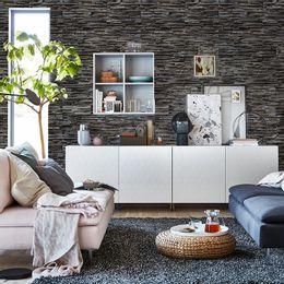 papel-de-parede-pedras-filetes-cinza-toques-escuros