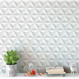 papel-de-parede-geometrico-3d-triangulo-branco