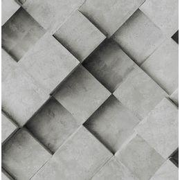 papel-de-parede-geometrico-3D-cimento